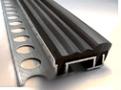 Профиль резиновый закладной и самоклеющийся, алюминиевые пороги с резиновой вставкой